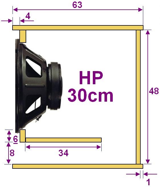 plan caisson de basse pour haut parleur 30cm 2