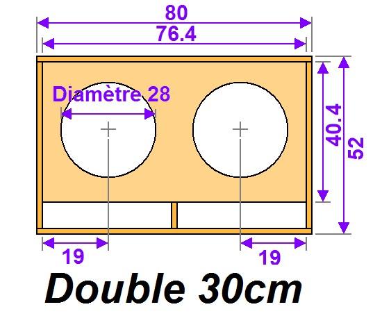 Plan de caisson de basse double 30cm