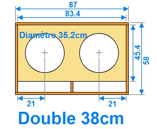 Plan de caisson de basse double 38cm for Fabricant de plan de maison
