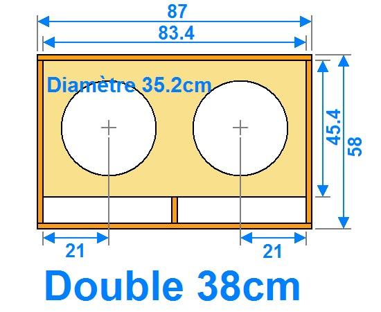 plan de caisson de basse double 38cm 0