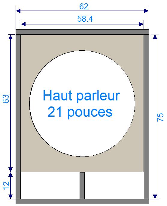 plan de caisson de basse haut parleur 21 pouces 1