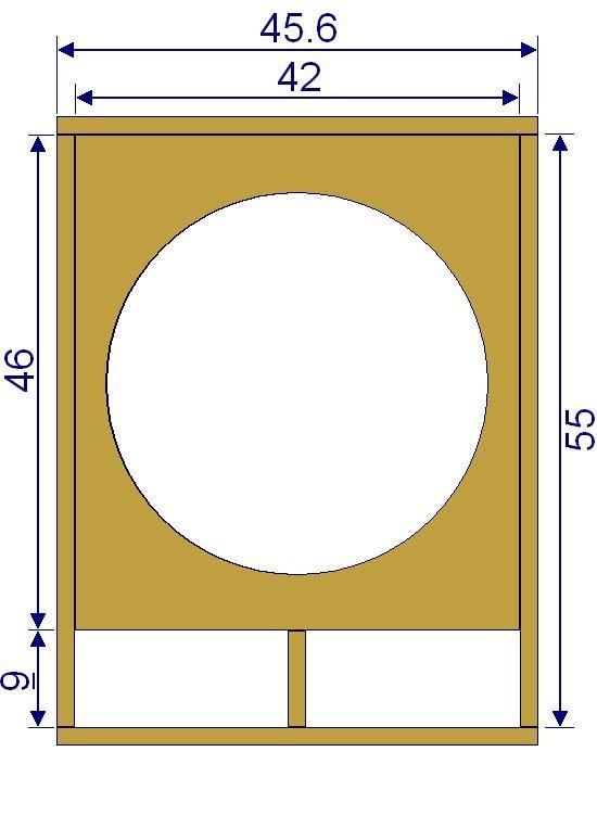 plan de caisson de basse sono 38cm 1