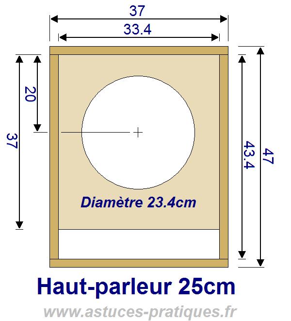 plan de caisson de grave hp 25cm 0