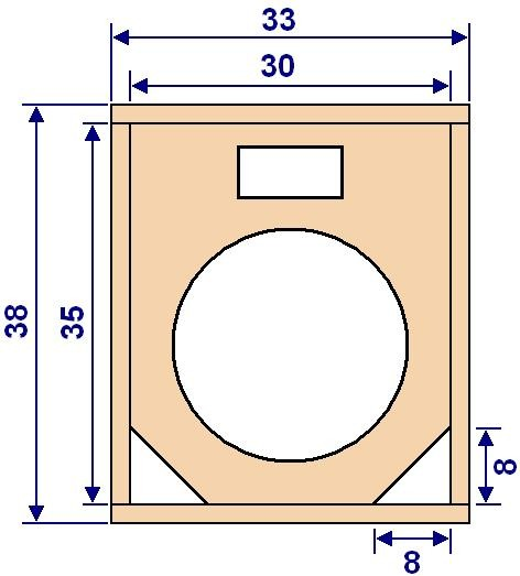 Plan de construction d'enceinte sono HP 25cm