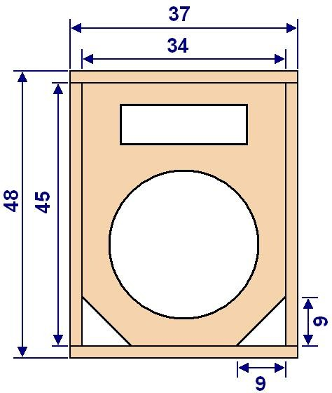 Plan de construction d'enceinte sono HP 30cm