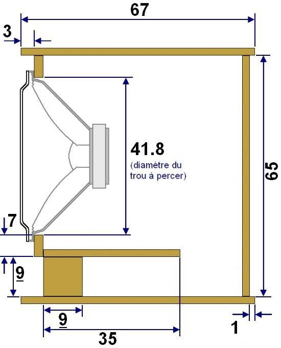 plan de realisation de caisson de basse 46 cm 2
