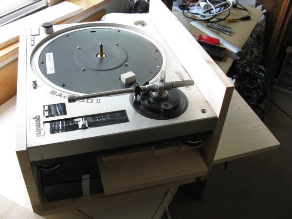 platine vinyle audiophile en bois 2