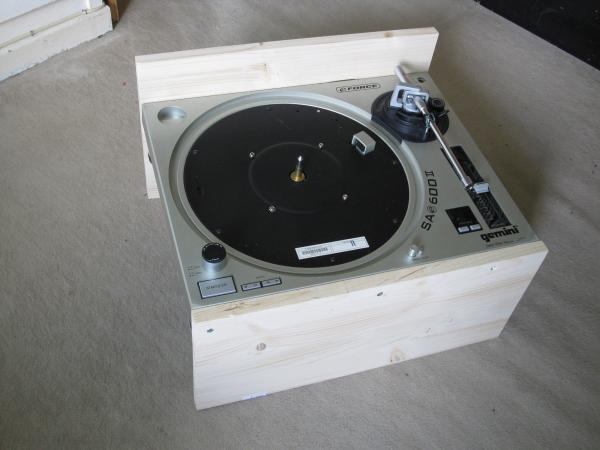 Platine vinyle audiophile en bois