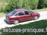 Puissance des forces de frottement en voiture : exemple