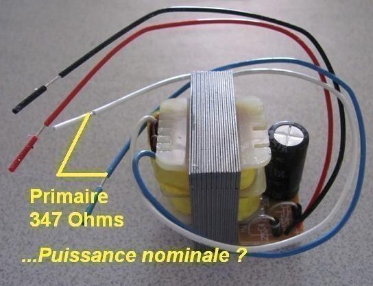 puissance nominale et resistance serie d un transfo 5
