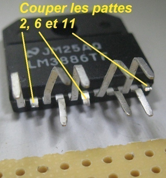 Réalisation d'ampli LM3886 ultra rapide