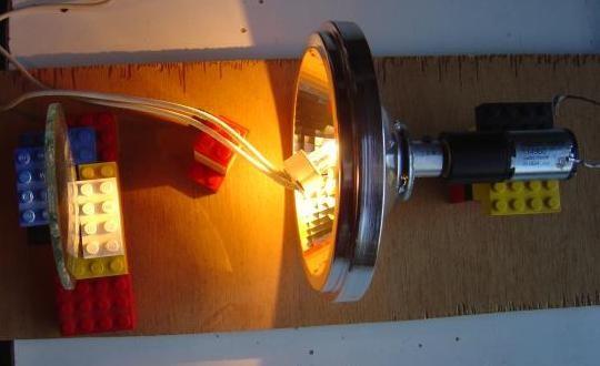 realisation de jeu de lumiere 100w halogene 1