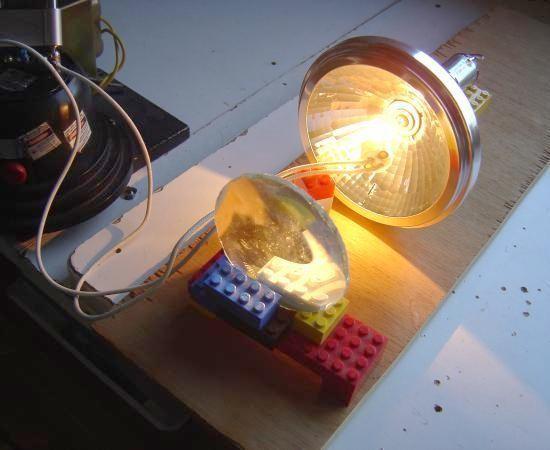 Réalisation de jeu de lumière 100W halogène