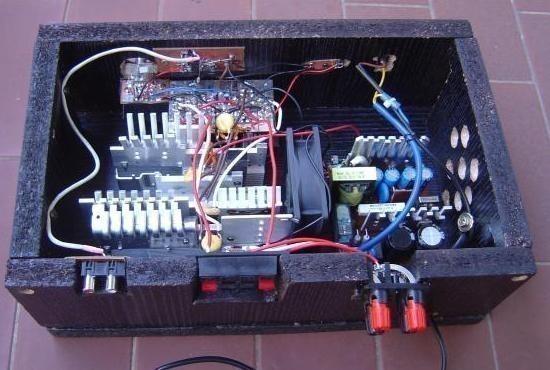 realisation et schema ampli audio 2x150w 11
