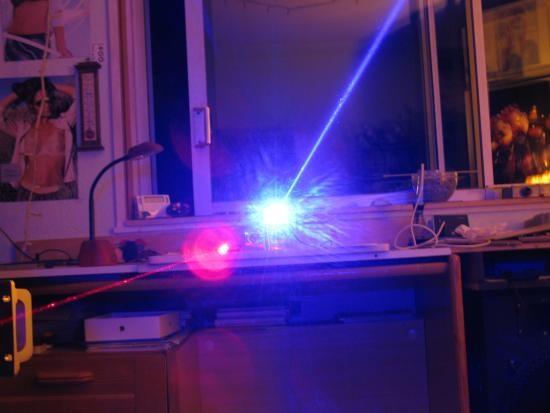 realisation laser bleu 1w ou 2w 1000mw 10