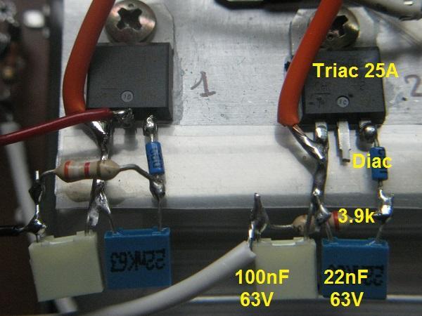 realisation variateur de lumiere 4 x 2000w 4