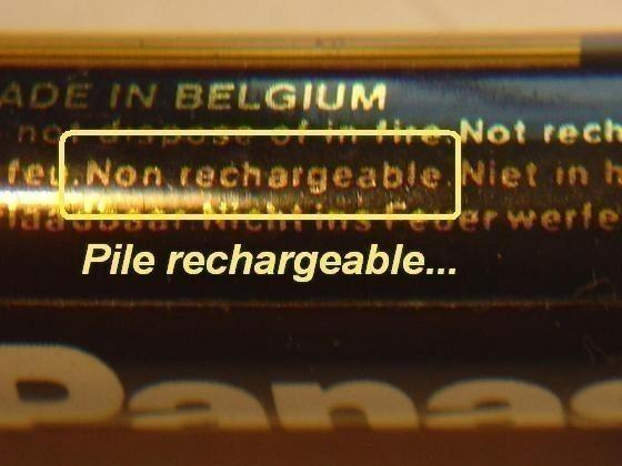 recharger des piles alcalines non rechargeables 2