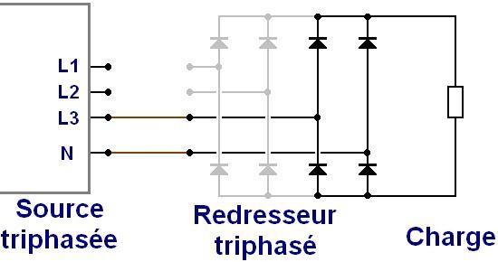 redressement triphase double alternance avec neutre 1