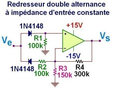 redresseur double alternance a ampli op 0