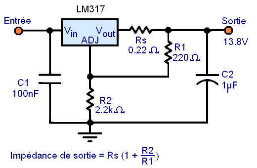 regulateur de tension lm317 montages 11