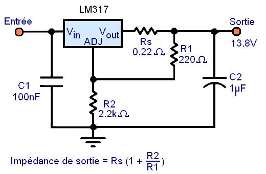 regulateur de tension lm317 montages 11