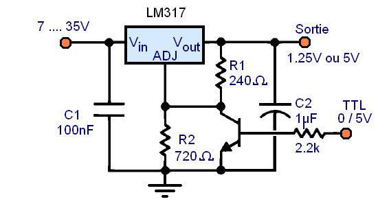 regulateur de tension lm317 montages 2