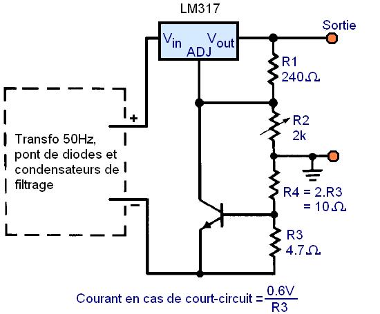 regulateur de tension lm317 montages 8