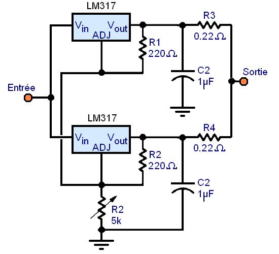 regulateur de tension lm317 montages 10