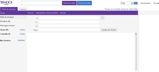 revenir a l ancienne version de yahoo mail 2013 3