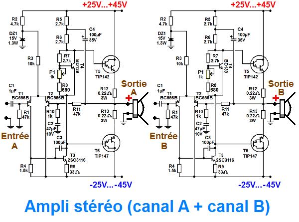 schema pour bridger un ampli stereo 0