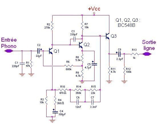 schema preampli phono a ampli op 3