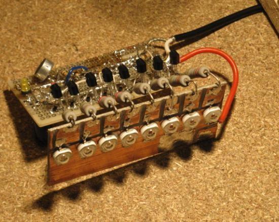 schema vumetre a led avec micro electret 2