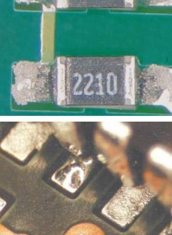 soudure de composant electronique mauvaise realisation 4