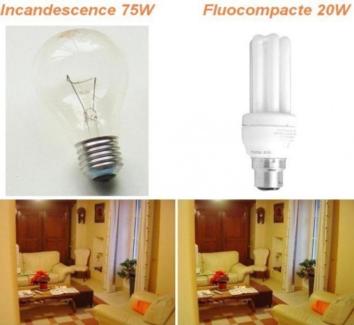 spectre de lampe fluocompacte et halogene 16