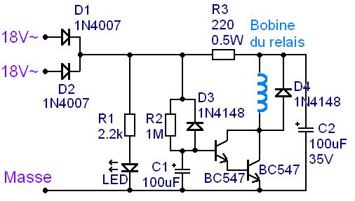temporisation a relais pour haut parleur et ampli 0