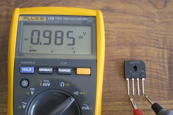 tester un pont de diodes 2