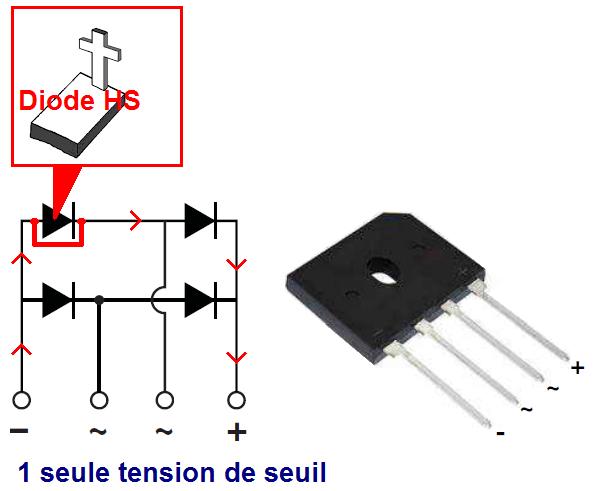 tester un pont de diodes 4