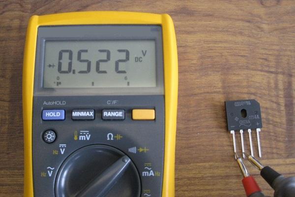 Tester un pont de diodes