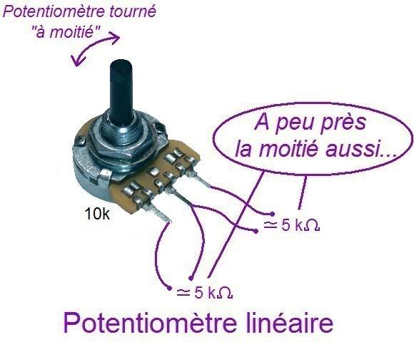 tester un potentiometre lineaire ou logarithmique 2