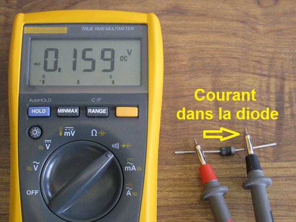 tester une diode au multimetre 2