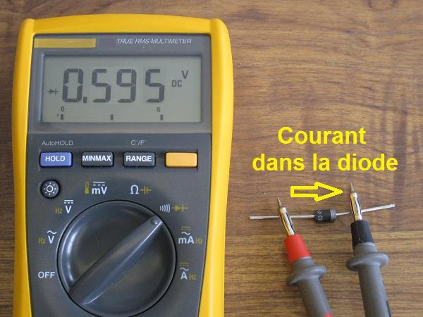 tester une diode au multimetre 1
