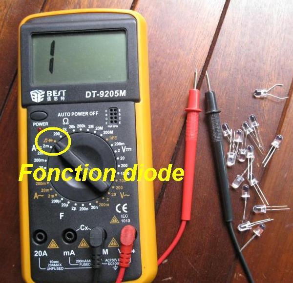 Tester une LED avec un multimètre