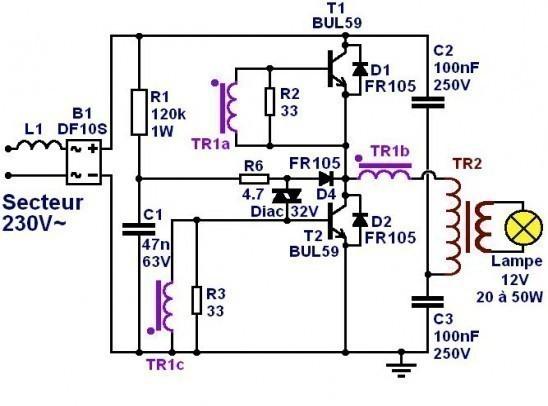 transformateur electronique 12v fonctionnement 0