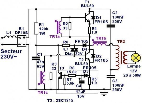 transformateur electronique 12v mesures 1