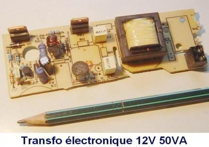 Transformateur électronique 12V : mesures