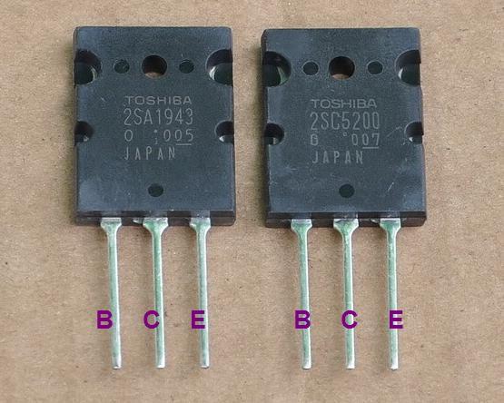 Transistor 2SC5200 et 2SA1943 pour ampli