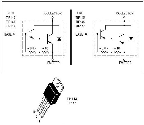 Transistors en parall le et transistor darlington for Le transistor