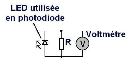 Utiliser une LED comme photodiode : montage
