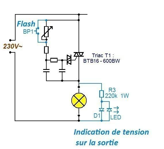 variateur de lumiere 3 x 2000w schema 1