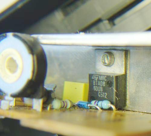 variateur de lumiere a triac realisation 7